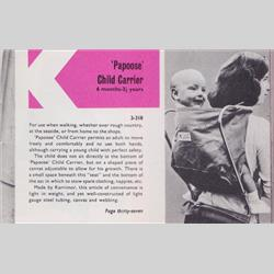 1963-1977 ~ 2-, 3-, 4-,5- & 6- Prefix Ref. No's - 3-318 Papoose Baby Carrier - http://www.hilarypagetoys.com