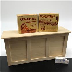 Miniatures - Cartons - Ovaltine Biscuits (C59) - http://www.hilarypagetoys.com