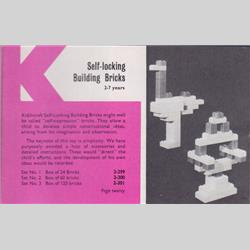 1963-1977 ~ 2-, 3-, 4-,5- & 6- Prefix Ref. No's - 2-301 Self-Locking Building Bricks Set 3 - 120 Bricks - http://www.hilarypagetoys.com