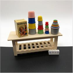 Miniatures - Specials - Miniature Kiddicraft Building Beakers (1/3 size) (S112) - http://www.hilarypagetoys.com