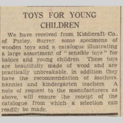 Press Cuttings - 1937 - http://www.hilarypagetoys.com