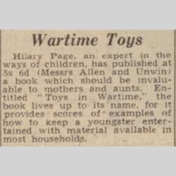 Press Cuttings - 1943 - http://www.hilarypagetoys.com
