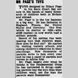 Press Cuttings - 1954 - http://www.hilarypagetoys.com