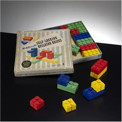 1932-1962 ~ K & F Prefix Ref. No's - K299 Self-Locking Building Bricks - Set 1 - 24 Bricks (Large) - http://www.hilarypagetoys.com