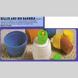 1978-1991~ K01-, K02-, K03-, K05- Ref. No's - K02 285 Billie and his Barrels - http://www.hilarypagetoys.com