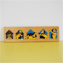 1978-1991~ K01-, K02-, K03-, K05- Ref. No's - K01 202 Lift n' Fit Puzzle - The Adventures of Rover the Dog - http://www.hilarypagetoys.com