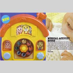 1978-1991~ K01-, K02-, K03-, K05- Ref. No's - K01 907 Musical Activity House - http://www.hilarypagetoys.com
