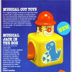 1978-1991~ K01-, K02-, K03-, K05- Ref. No's - K01 908 Musical Jack in the Box - http://www.hilarypagetoys.com