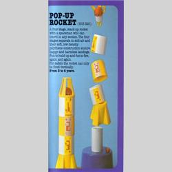 1978-1991~ K01-, K02-, K03-, K05- Ref. No's - K03  325 Pop-Up Rocket - http://www.hilarypagetoys.com