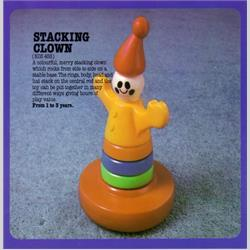 1978-1991~ K01-, K02-, K03-, K05- Ref. No's - K03 453 Stacking Clown - http://www.hilarypagetoys.com