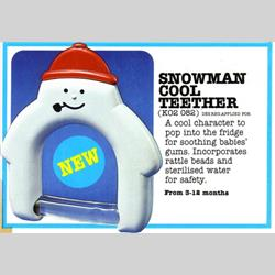 K02 082 Snowman Cool Teether