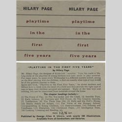 In-Pack Promotional Leaflets - United Kingdom - 1953 - Playtime in the First Five Years - http://www.hilarypagetoys.com