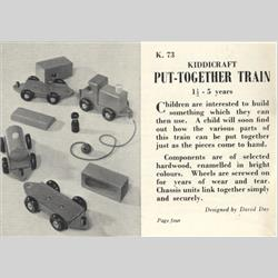 1932-1962 ~ K & F Prefix Ref. No's - K73 Put-Together Train - http://www.hilarypagetoys.com