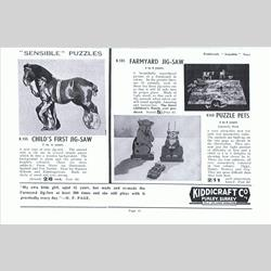 1932-1962 ~ K & F Prefix Ref. No's - K155 Child's First Jig-Saw - http://www.hilarypagetoys.com