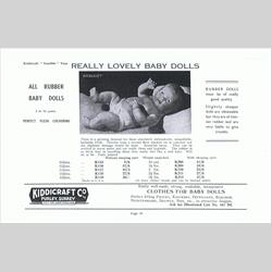 1932-1962 ~ K & F Prefix Ref. No's - K211 All Rubber Baby Doll 16 1/2in with sleeping eyes - http://www.hilarypagetoys.com