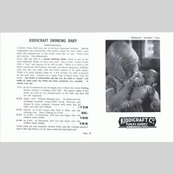 1932-1962 ~ K & F Prefix Ref. No's - K216 Drinking Baby 13in part dressed, with sleeping eyes - http://www.hilarypagetoys.com