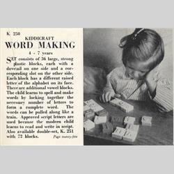 1932-1962 ~ K & F Prefix Ref. No's - K251 Word Making - 72 blocks - http://www.hilarypagetoys.com