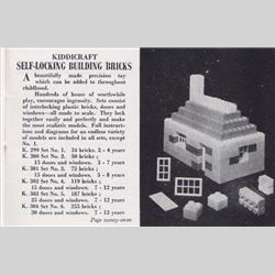 1932-1962 ~ K & F Prefix Ref. No's - K304 Self-Locking Building Bricks - Set 6 - 255 bricks (Large), 30 doors and windows - http://www.hilarypagetoys.com