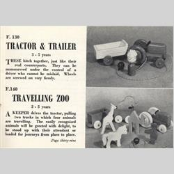 1932-1962 ~ K & F Prefix Ref. No's - F140 Forest Toys - Travelling Zoo - http://www.hilarypagetoys.com
