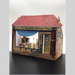 1932-1962 ~ K & F Prefix Ref. No's - MS Miniatures - Wayside Stores - ? Miniatures in display shop  - http://www.hilarypagetoys.com