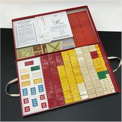 1932-1962 ~ K & F Prefix Ref. No's - K302 Self-Locking Building Bricks (Small) - Set 1 - 102 whole & 48 half bricks, 12 doors and windows - http://www.hilarypagetoys.com