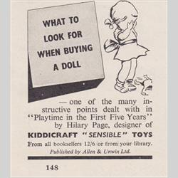 Advertisements - United Kingdom - 1953 Playtime in the First Five Years - http://www.hilarypagetoys.com