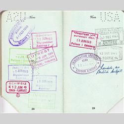 Oreline Page Documents - 1949 Oreline Page Passport Copy - http://www.hilarypagetoys.com