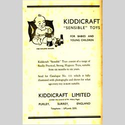 "Advertisements - United Kingdom - 1938 Kiddicraft ""Sensible"" Toys - http://www.hilarypagetoys.com"