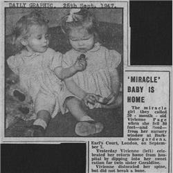 Hilary Page's Family - 1947 September - Vivienne Page Fall Pics & Press - http://www.hilarypagetoys.com