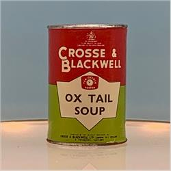Miniatures - Tins - Crosse & Blackwell Ox Tail Soup (T18) - Red Label - http://www.hilarypagetoys.com