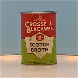 Miniatures - Tins - Crosse & Blackwell Scotch Broth (T21) - Red Label - http://www.hilarypagetoys.com