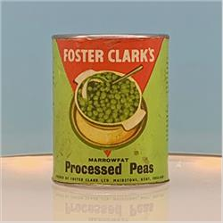 Miniatures - Tins - Foster Clark's Processed Peas (T27) - http://www.hilarypagetoys.com