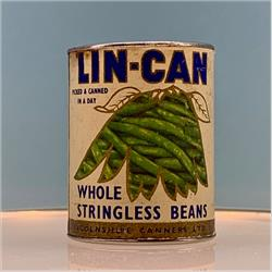 Miniatures - Tins - Lin-Can Whole Stringless Beans (T49) - http://www.hilarypagetoys.com