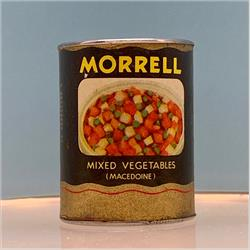 Miniatures - Tins - Morrell Mixed Vegetables (T57) - http://www.hilarypagetoys.com