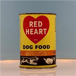 Miniatures - Tins - Red Heart Dog Food (T58) - http://www.hilarypagetoys.com