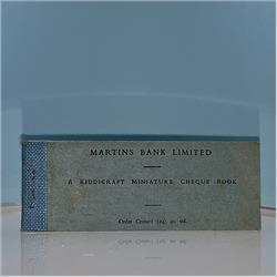 Miniatures - Specials - Martins Bank Cheque Book (S113) - http://www.hilarypagetoys.com