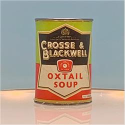 Miniatures - Tins - Crosse & Blackwell Oxtail Soup (T18) -Black Label - http://www.hilarypagetoys.com