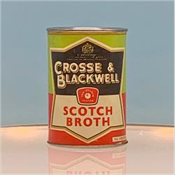 Miniatures - Tins - Crosse & Blackwell Scotch Broth (T21) - Black Label - http://www.hilarypagetoys.com