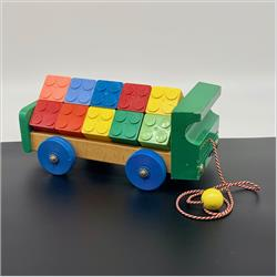 Interlocking Building Cubes - 5-116 Brick Lorry with 15 Interlocking Building Cubes - New larger size - http://www.hilarypagetoys.com