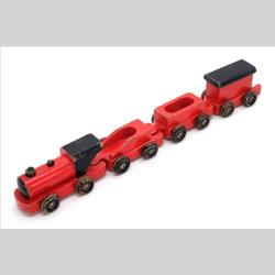 1932-1962 ~ K & F Prefix Ref. No's - K72 Pull-Along-Train - Red with Black Wheels, Roof and Engine Details - http://www.hilarypagetoys.com