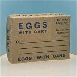 Miniatures - Specials - Postal Box of Eggs (S101) Postage 6d Version - http://www.hilarypagetoys.com