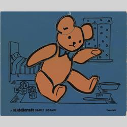 1932-1962 ~ K & F Prefix Ref. No's - K157 Simple Jigsaw - No.3 Teddy (8pcs) Purple.jpeg - http://www.hilarypagetoys.com