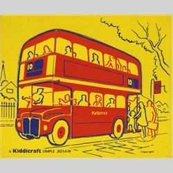 1932-1962 ~ K & F Prefix Ref. No's - K157 Simple Jigsaw - No.5 London Bus (7pcs) - http://www.hilarypagetoys.com