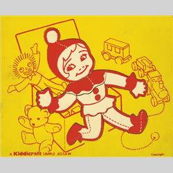 1932-1962 ~ K & F Prefix Ref. No's - K157 Simple Jigsaw - No.8 Doll (7pcs) Red - http://www.hilarypagetoys.com