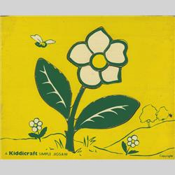 1932-1962 ~ K & F Prefix Ref. No's - K157 Simple Jigsaw - No.8 Flower (9pcs) - http://www.hilarypagetoys.com