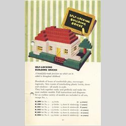 1932-1962 ~ K & F Prefix Ref. No's - K302 Self-Locking Building Bricks - Set 4 - 119 bricks (Large), 15 doors and windows - http://www.hilarypagetoys.com