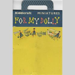 1932-1962 ~ K & F Prefix Ref. No's - PBP/1 Miniatures - For My Dolly - 9 tins, cartons, bottles & jars in a poly bag - http://www.hilarypagetoys.com