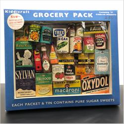1932-1962 ~ K & F Prefix Ref. No's - GP Miniatures - My Groceries - 24 miniatures in a window box - http://www.hilarypagetoys.com