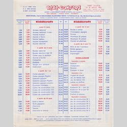 Catalogues and Price Lists - France - 1965 FR - Price List - http://www.hilarypagetoys.com